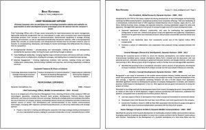 sample 2-paged resume