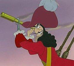 Captain Hook with binocular