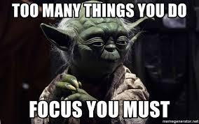 yoda on focus teachings